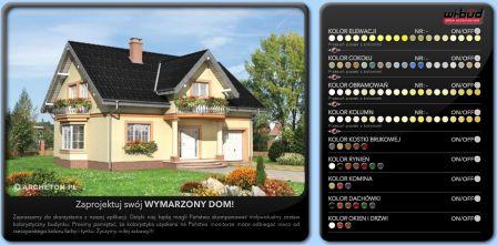 Kolor dachu i elewacji wizualizacja
